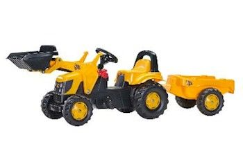 JCB ROLLY KID WITH TRAILER & LOADER