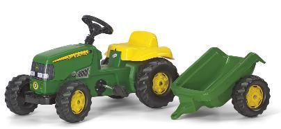 JOHN DEERE ROLLY KID WITH TRAILER