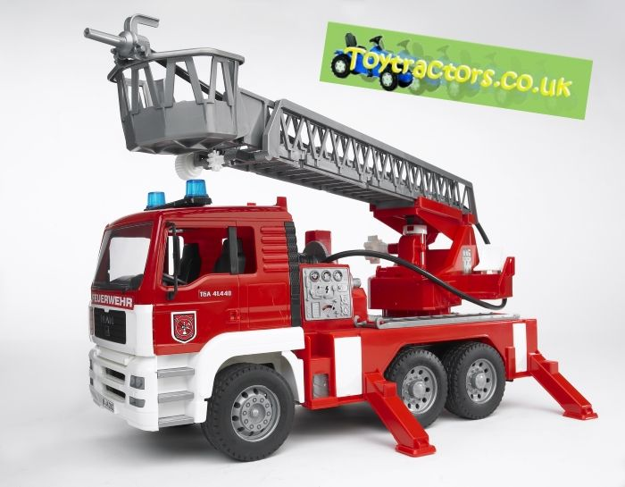MAN FIRE TRUCK AND LADDER