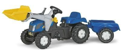 NEW HOLLAND TVT190  WITH LOADER AND TRAILER